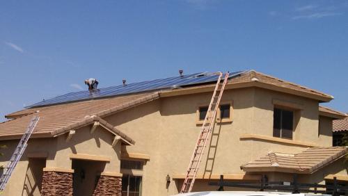 Installing solar panels screening