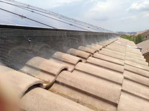 Solar panel proofing screen